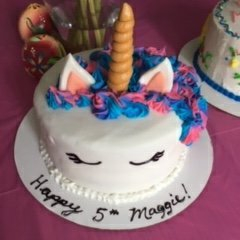 "9"" 4 layer unicorn buttercream"