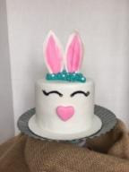 "6"" 4 layer chocolate and vanilla buttercream bunny"