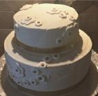 2 tier anniversary cake chocolate fudge with vanilla buttercream and black cherry compote