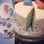 "9"" 4 layer gender reveal ombre"